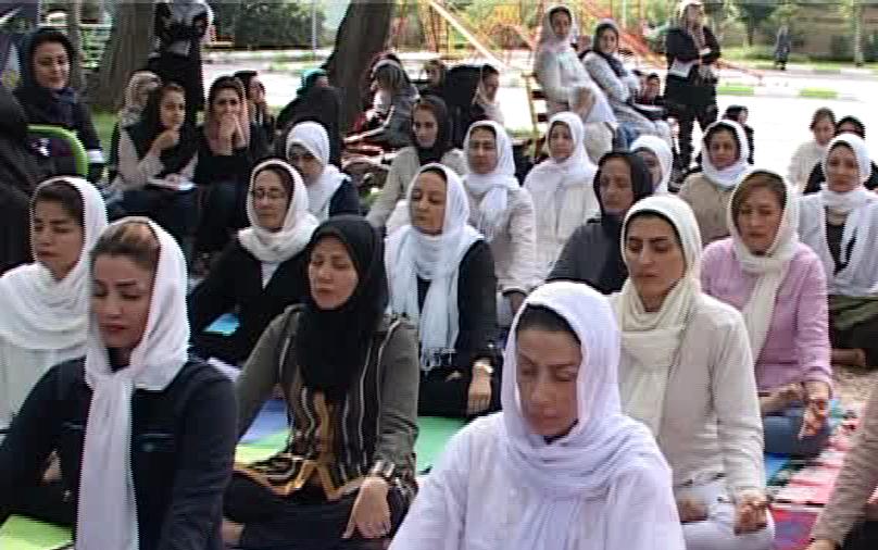 برگزاری مراسم روز جهانی یوگا در ایران